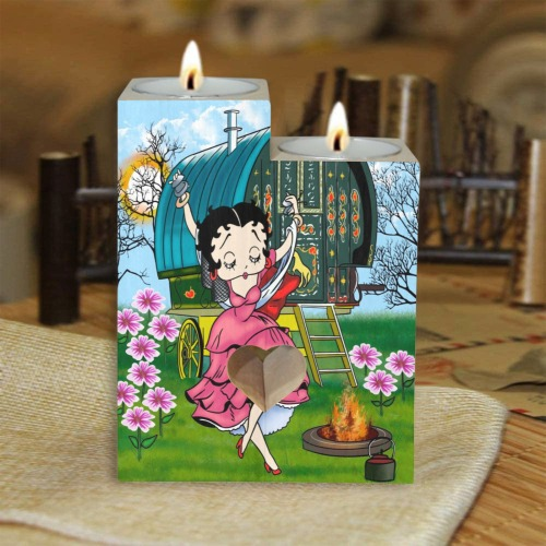 image0caty Wooden Candle Holder (Without Candle)