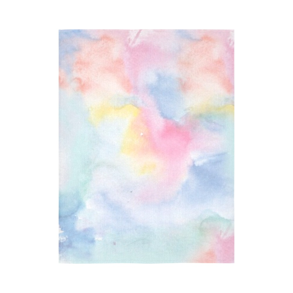 """Colorful watercolor Cotton Linen Wall Tapestry 60""""x 80"""""""