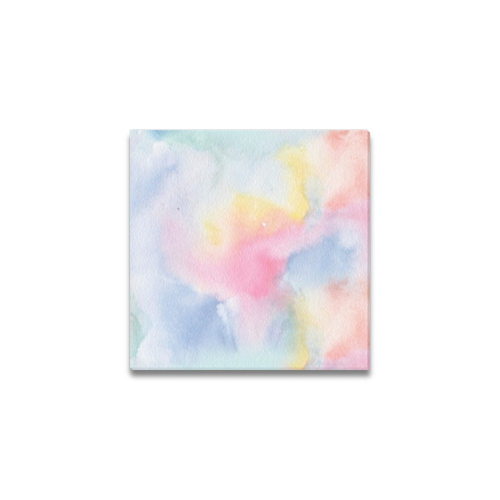 "Colorful watercolor Canvas Print 6""x6"""