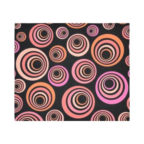 "Retro Psychedelic Pretty Orange Pattern Cotton Linen Wall Tapestry 60""x 51"""
