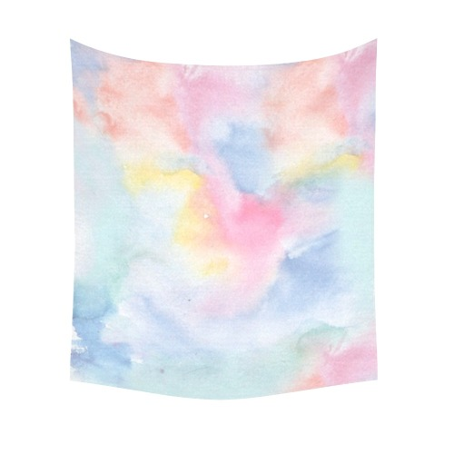 """Colorful watercolor Cotton Linen Wall Tapestry 51""""x 60"""""""
