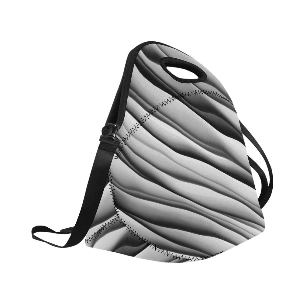 Monochrome Ink Neoprene Lunch Bag/Large (Model 1669)