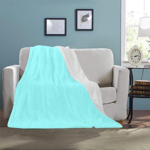 "color ice blue Ultra-Soft Micro Fleece Blanket 40""x50"""