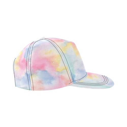 Colorful watercolor All Over Print Snapback Hat D