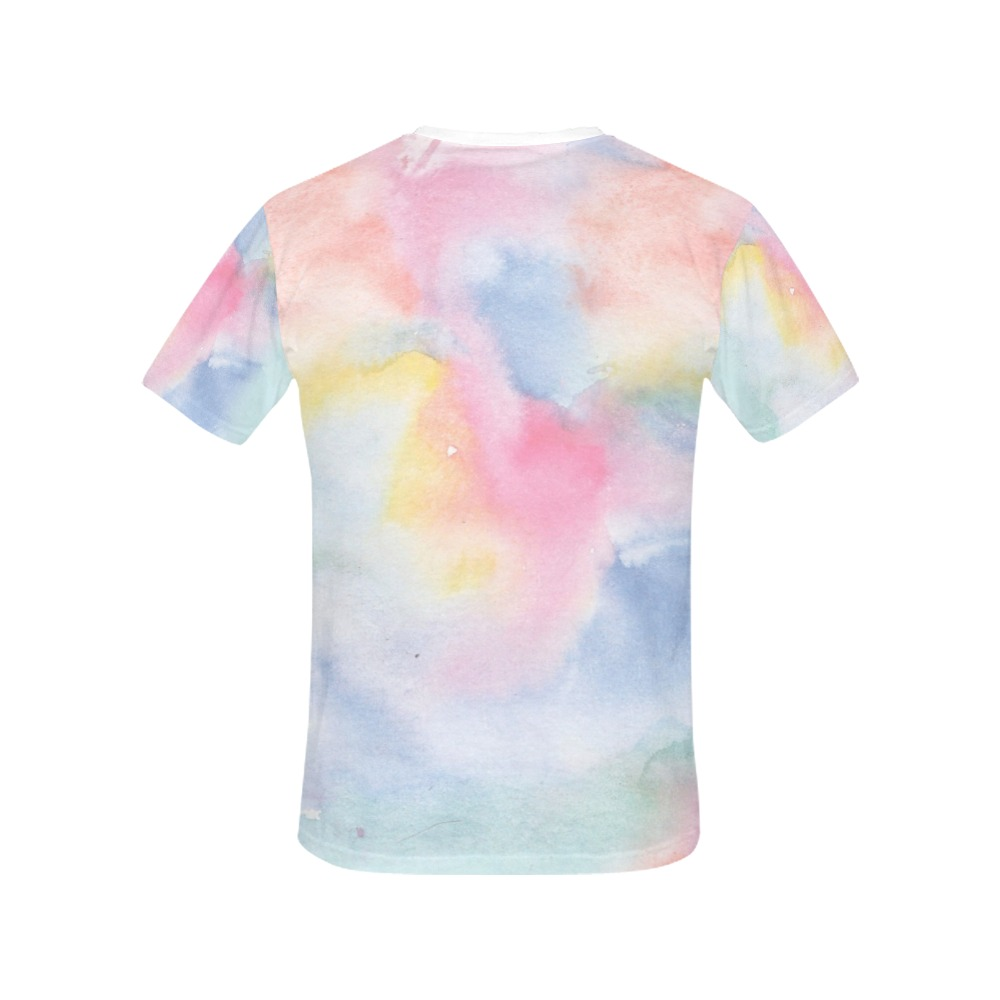 Colorful watercolor All Over Print T-Shirt for Women (USA Size) (Model T40)