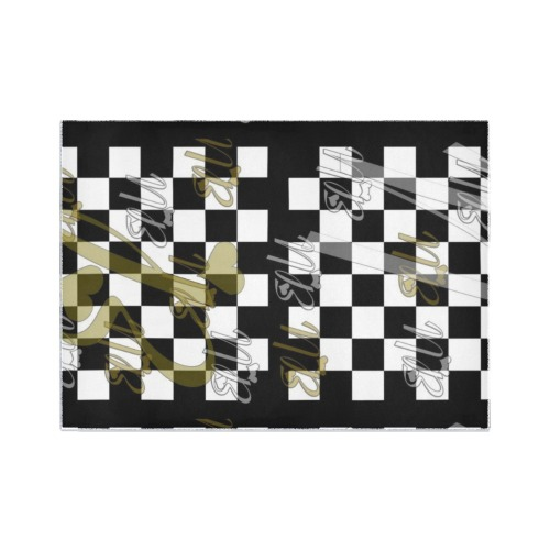 Nb Schach by Nico Bielow Area Rug7'x5'