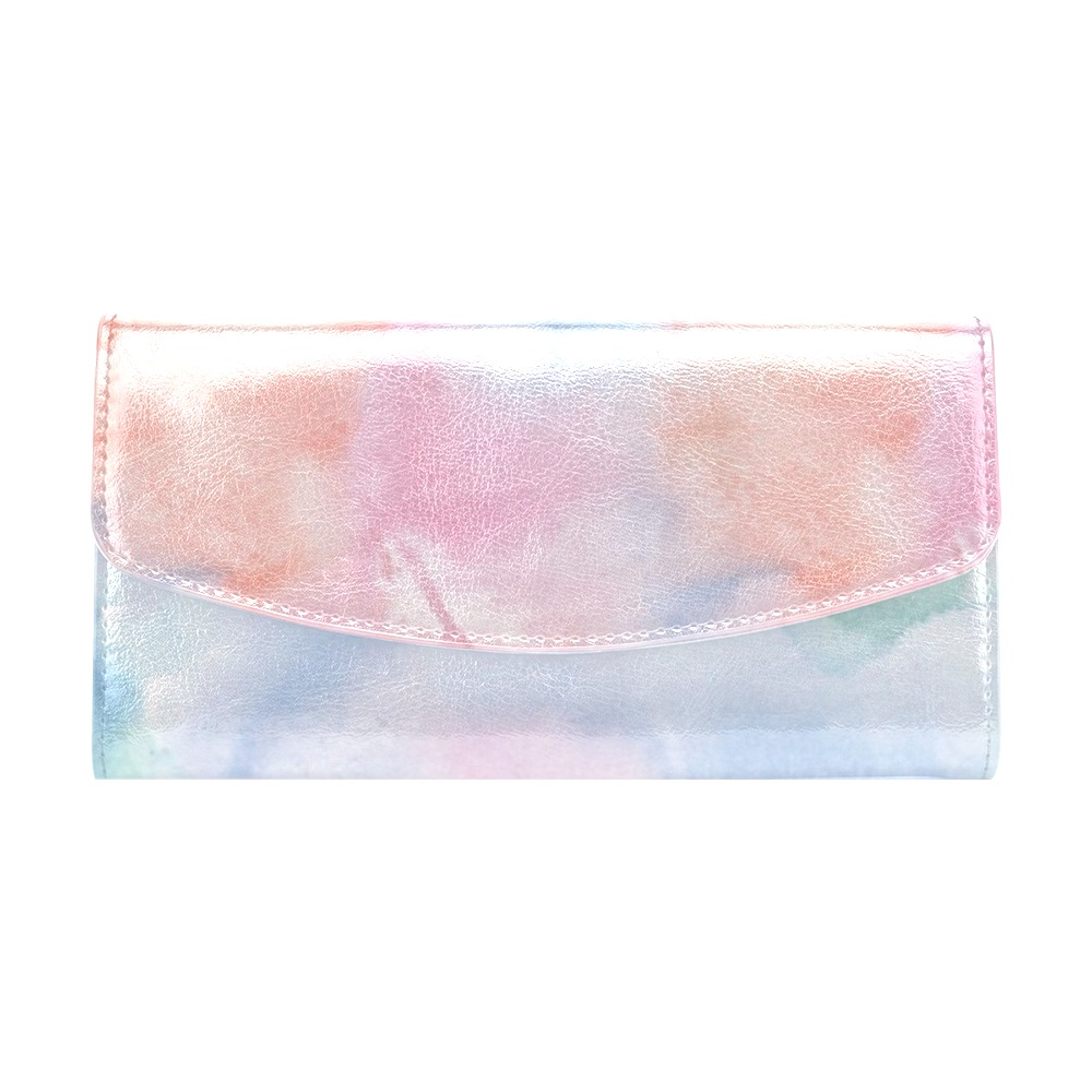 Colorful watercolor Women's Flap Wallet (Model 1707)