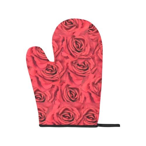 Radical Red Roses Oven Mitt & Pot Holder