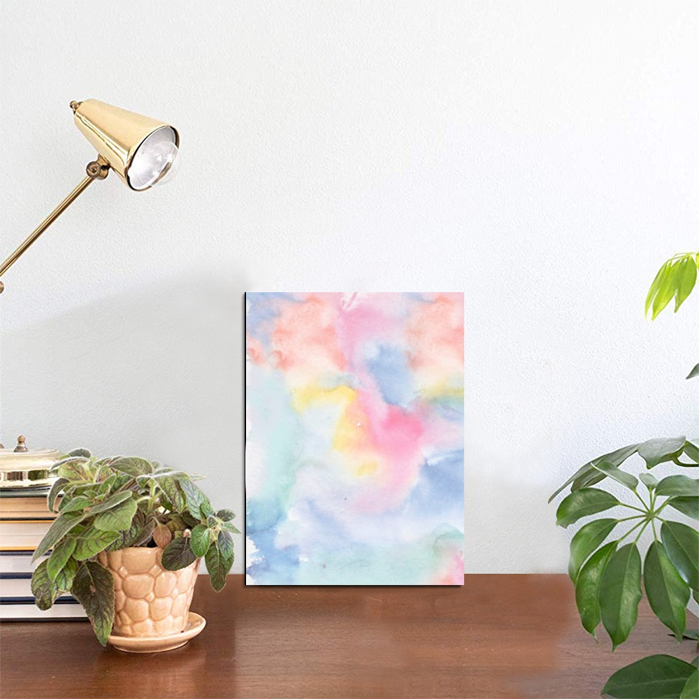 """Colorful watercolor Photo Panel for Tabletop Display 6""""x8"""""""