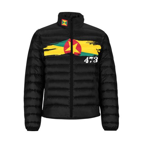 manusartgnd Men's Stand Collar Padded Jacket (Model H41)