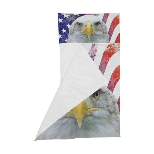 American Flag and Bald Eagle Kids' Sleeping Bag
