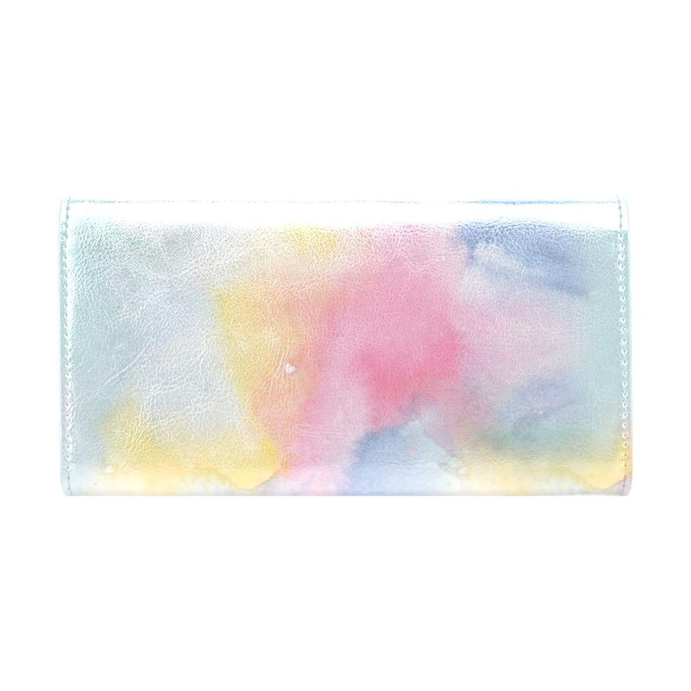 Colorful watercolor Women's Trifold Wallet (Model 1708)