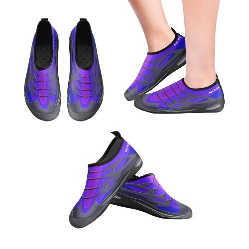 Run Rabbit Purple Women's Slip-On Water Shoes (Model 056)