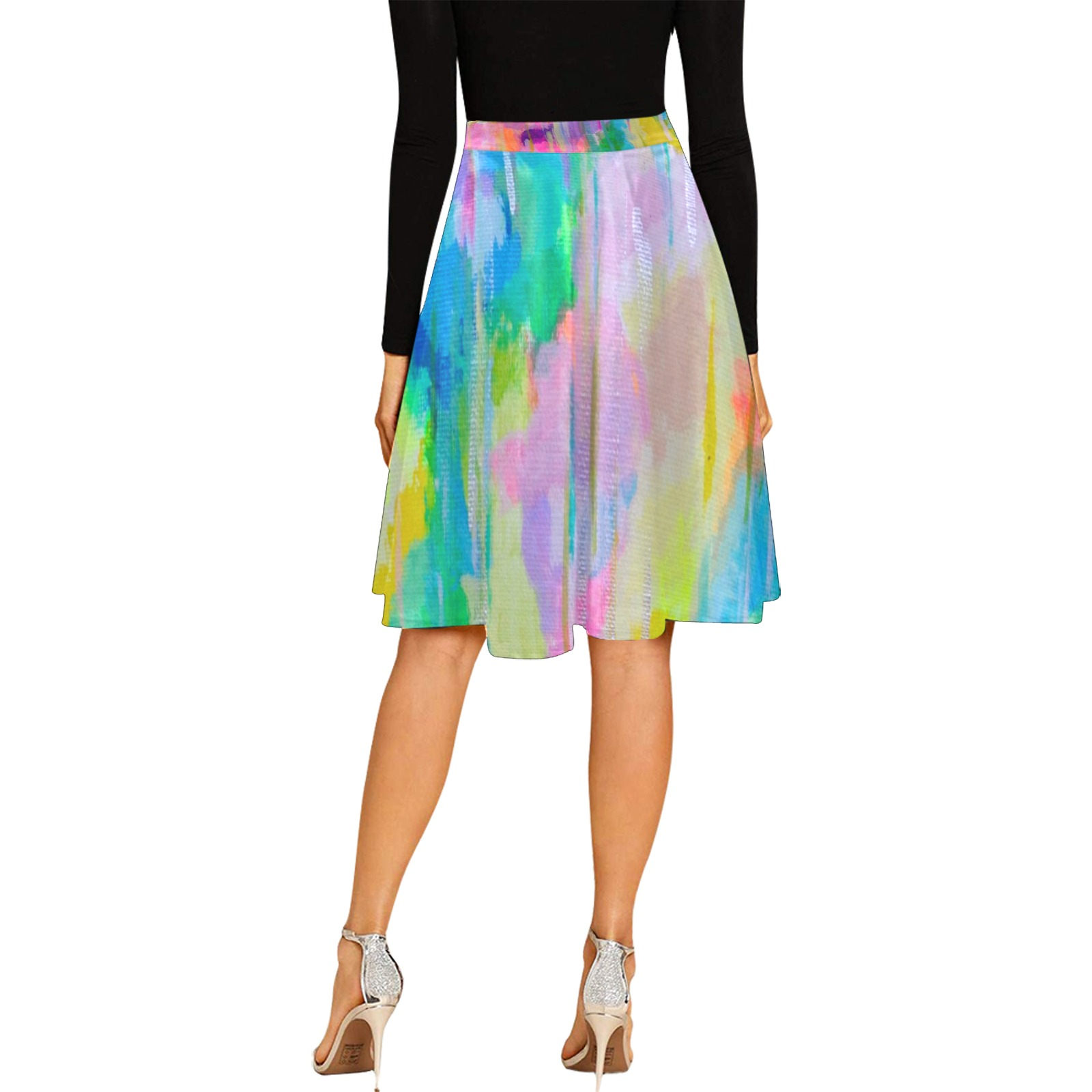 Happy Rain Melete Pleated Midi Skirt (Model D15)