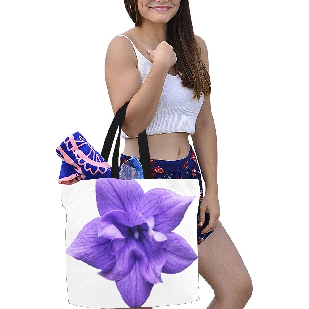 Balloon Flower All Over Print Canvas Tote Bag/Large (Model 1699)
