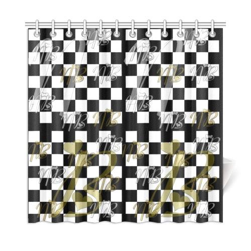 "NB Schach by Nico Bielow Shower Curtain 72""x72"""