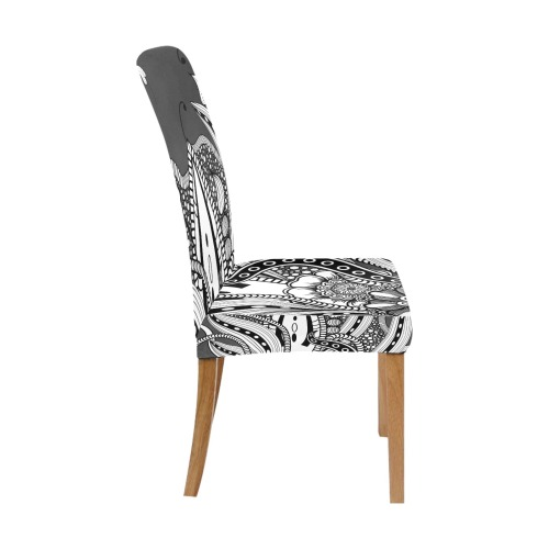 Wonderful floral design Removable Dining Chair Cover