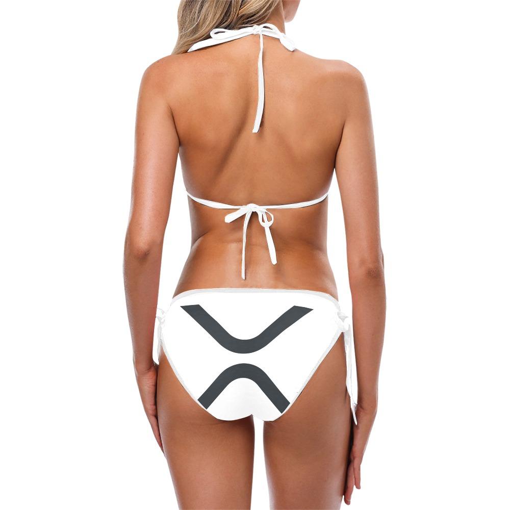 X WHITE BIKINI SWIMSUIT MODEL B Custom Bikini Swimsuit (Model S01)