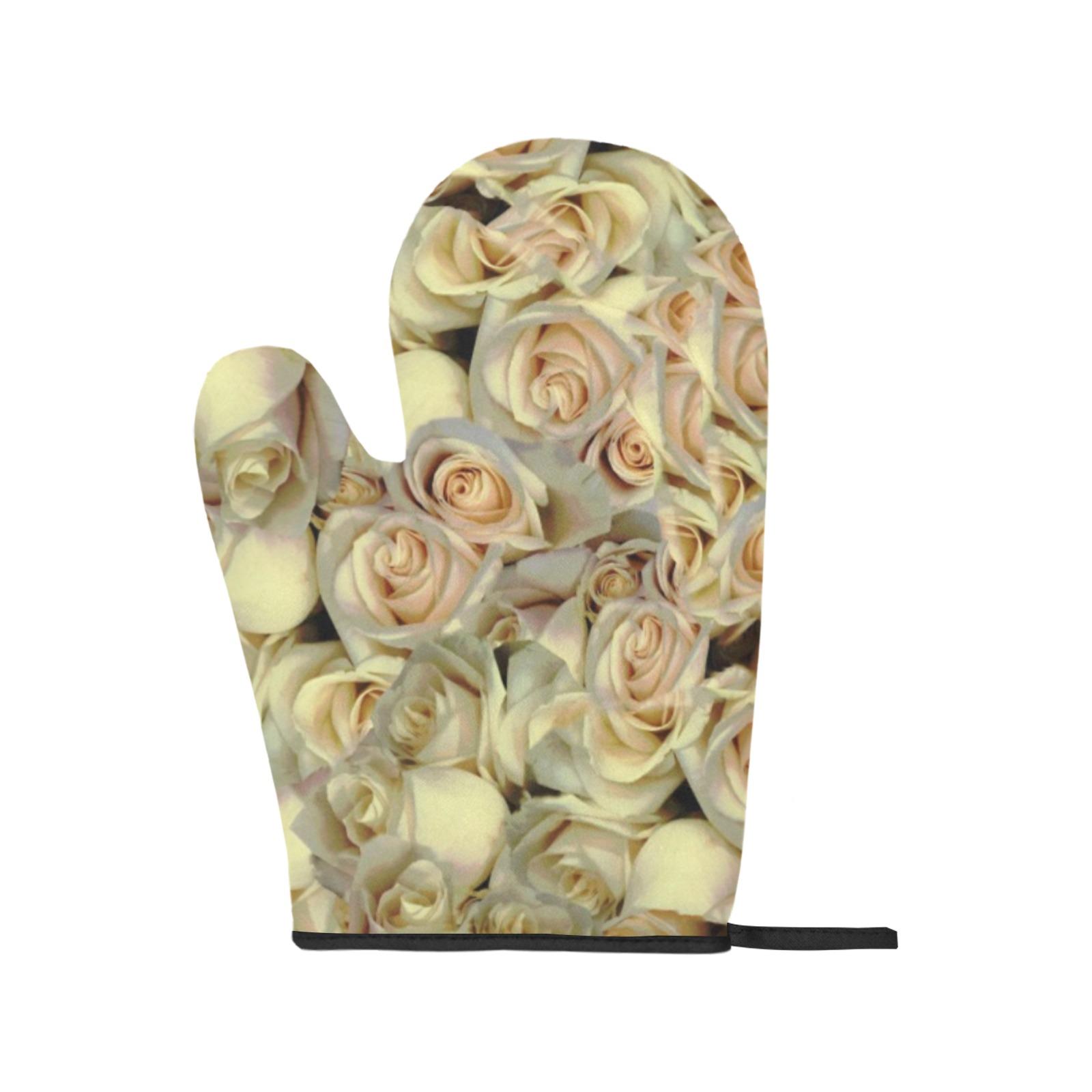 Primrose Floral Oven Mitt & Pot Holder