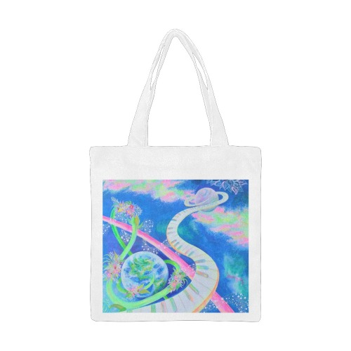 Music of Love Canvas Tote Bag/Small (Model 1700)
