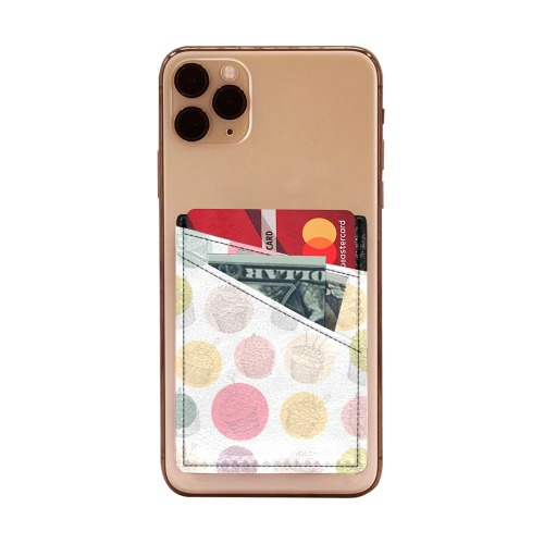 Colorful Cupcakes Cell Phone Card Holder