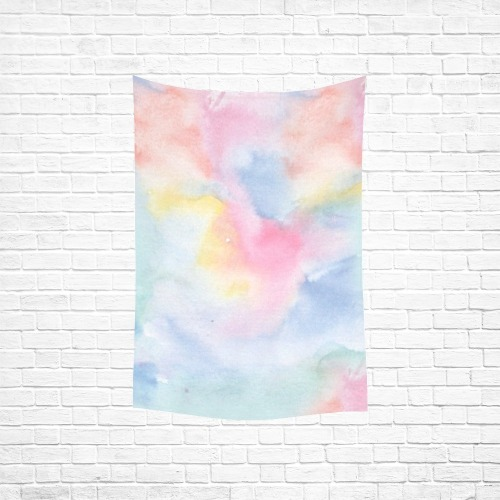 """Colorful watercolor Cotton Linen Wall Tapestry 40""""x 60"""""""