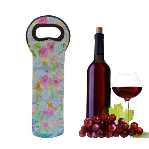 Flower Tornado Neoprene Wine Bag