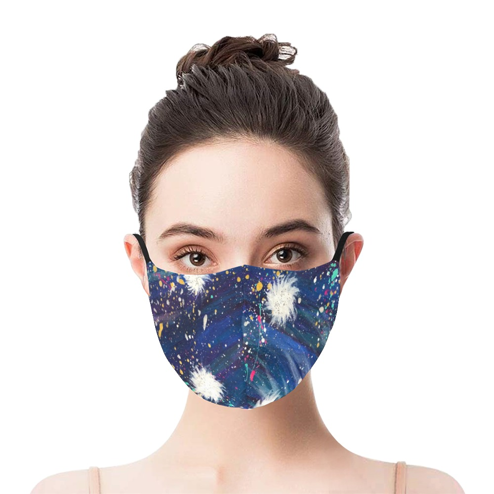 Sparkle 3D Plus Size Mouth Mask with Drawstring (Model M05)