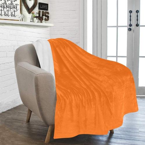 "color pumpkin Ultra-Soft Micro Fleece Blanket 50""x60"""
