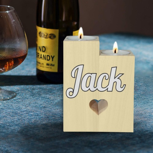 Jack Wooden Candle Holder (Without Candle)