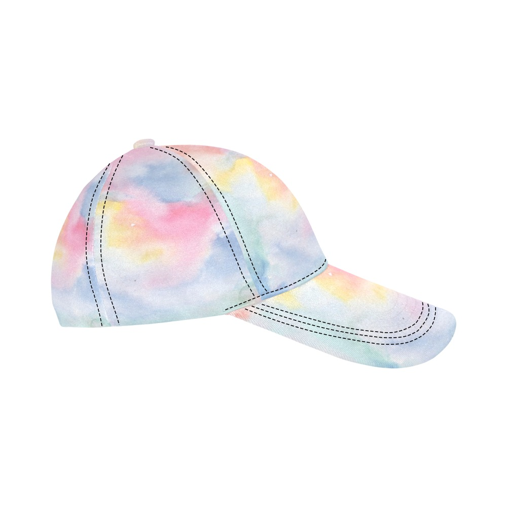 Colorful watercolor All Over Print Dad Cap C (6-Pieces Customization)