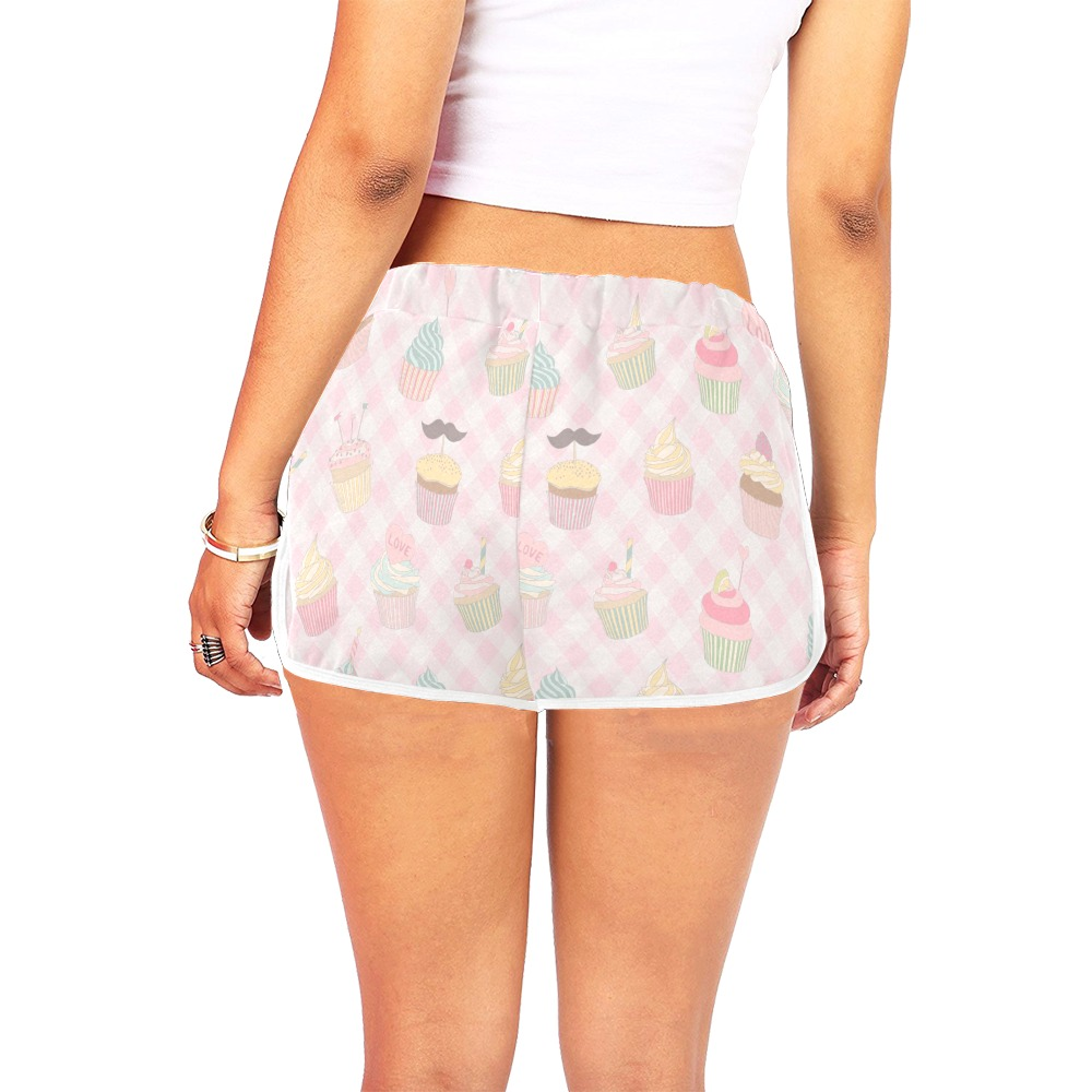 Cupcakes Women's All Over Print Relaxed Shorts (Model L19)