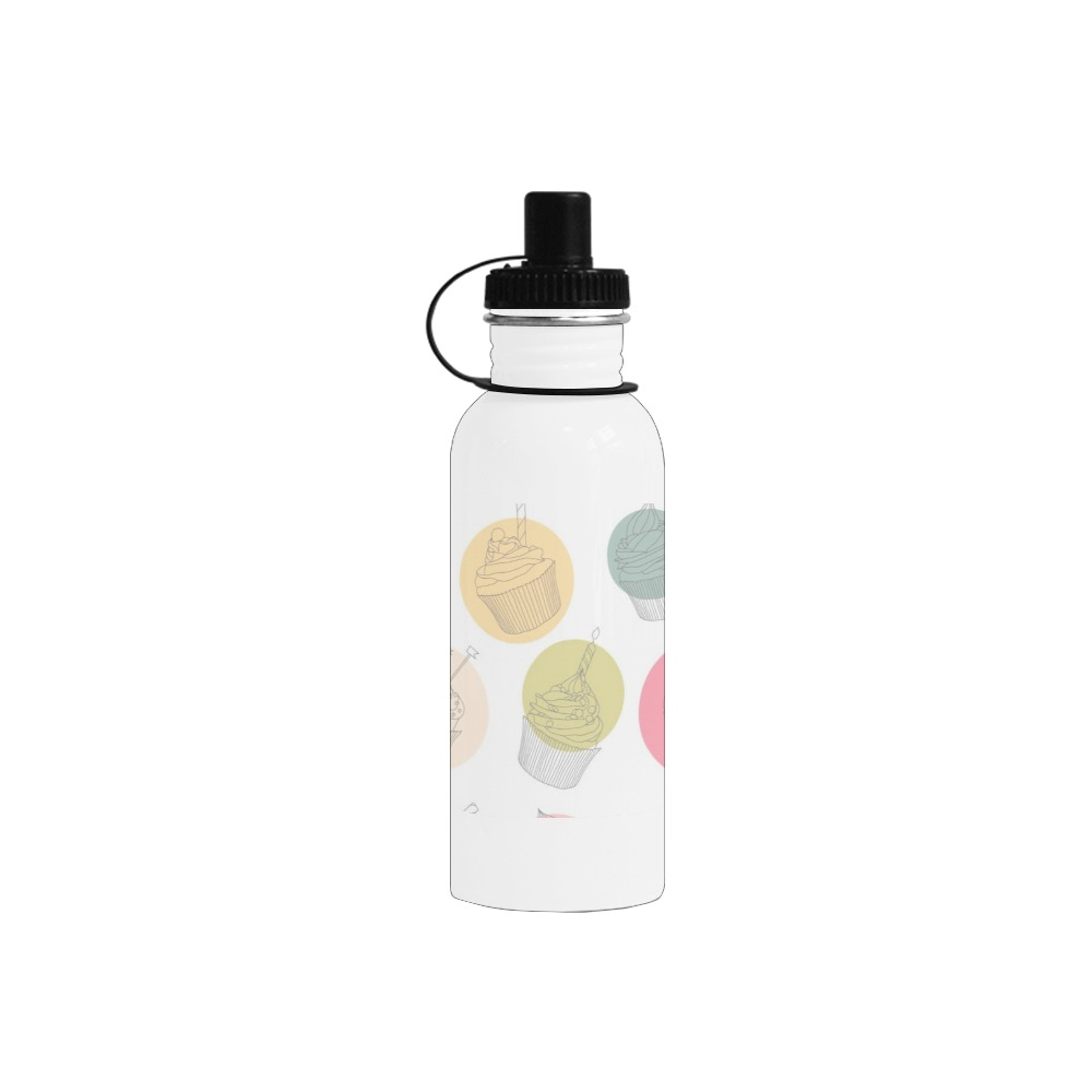 Colorful Cupcakes Manchester Sports Bottle(22OZ)