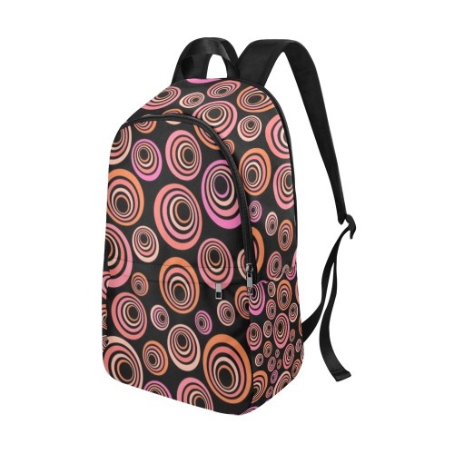 Retro Psychedelic Pretty Orange Pattern Fabric Backpack for Adult (Model 1659)