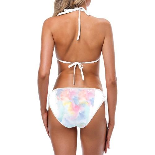 Colorful watercolor Custom Bikini Swimsuit (Model S01)
