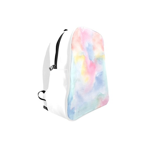 Colorful watercolor School Backpack (Model 1601)(Small)