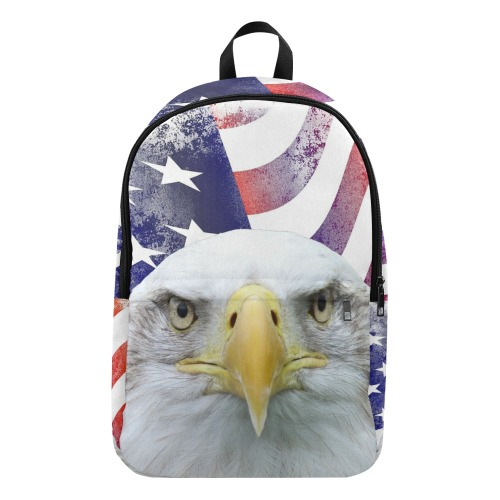 American Flag and Bald Eagle Fabric Backpack for Adult (Model 1659)