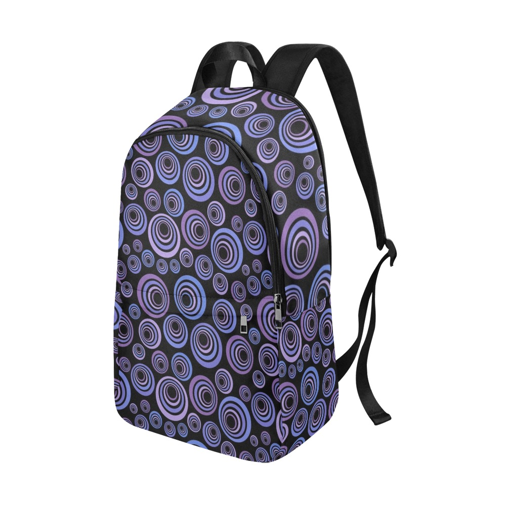 Retro Psychedelic Pretty Purple Pattern Fabric Backpack for Adult (Model 1659)