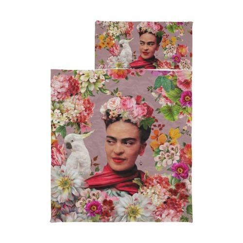 Frida Kahlo Cockatoo Love - Blueberry Smoothie Kids' Sleeping Bag