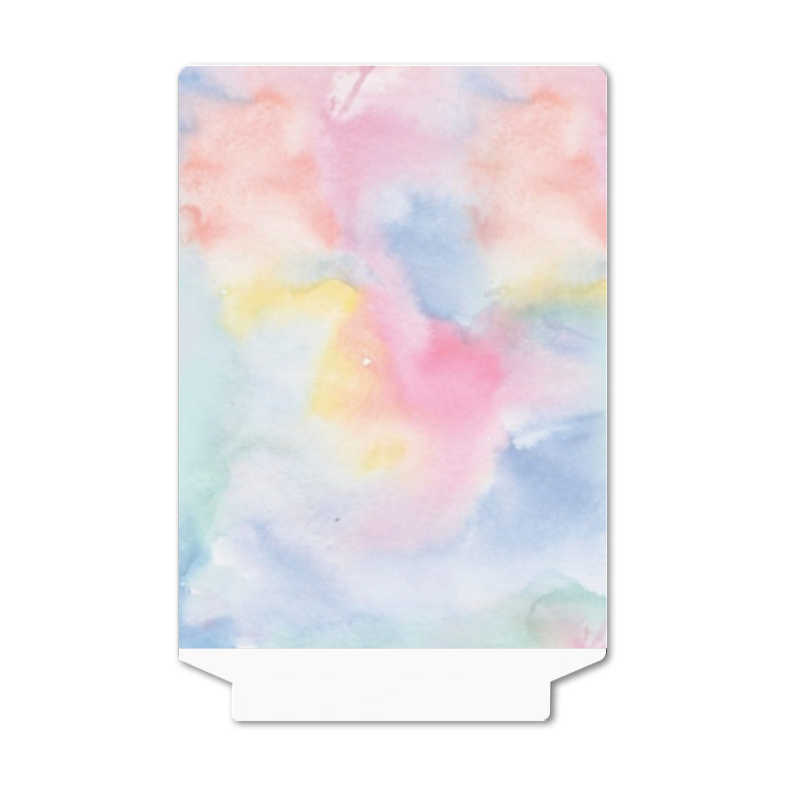 Colorful watercolor Acrylic Photo Panel with Wooden Stand