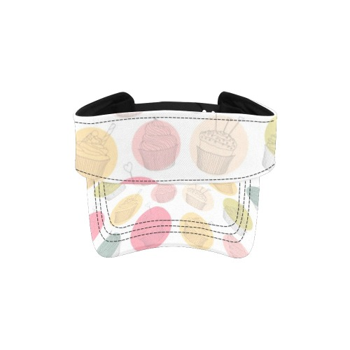 Colorful Cupcakes All Over Print Sports Visor